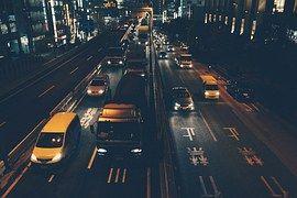 Verkehr, Fahrzeuge, Lkw, Straßen, Nacht