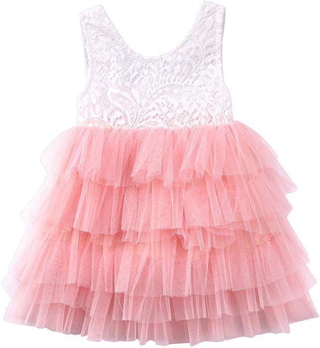 1e05db2ee379 Amazon.com  Annvivi Baby Girls Lace Tutu Tulle Princess Wedding ...
