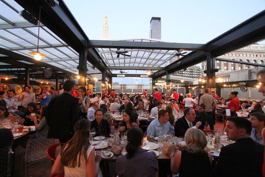 Captivating Roll A Coveru0027s Retractable Roof At Eataly Birreria In New York City | Eataly  Birreria Retractable Roof | Pinterest | Rooftop