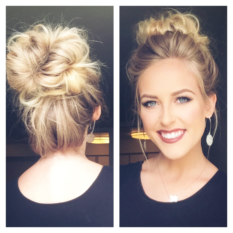 Cute Messy Bun Less Than 5 Min Hair Styles Messy Hairstyles Medium Hair Styles