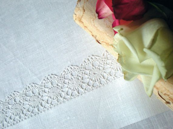 Wedding table runner with lace $32