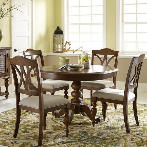Skyler Design Townsville Ii Dark Walnut Casual Style Family Size Dining Table In 2020 Side Chairs Table Sizes Dining