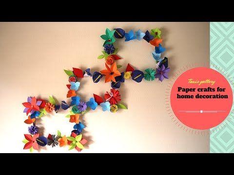 DIY ideas : Newspaper/Magazine Wall Decor | Paper crafts for home ...