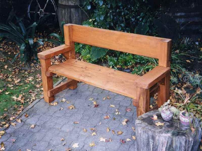 Wood Benches Plans Homemade Wooden Bench Grand Simple Deck Designs