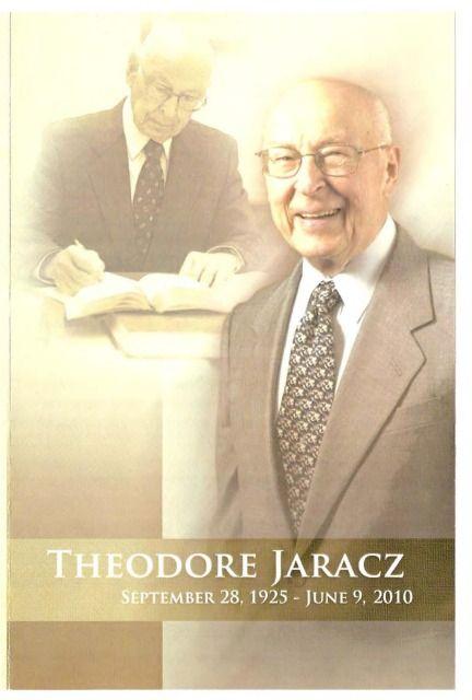 Theodore Jaracz Memorial Program From 2010 Temoins De Jehovah Frere Et Soeur