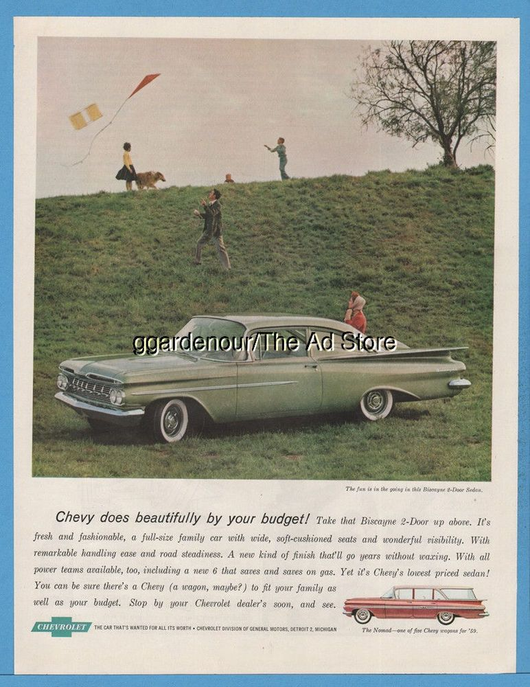 1959 Chevrolet Biscayne Chevy Nomad Station Wagon Kite Flying