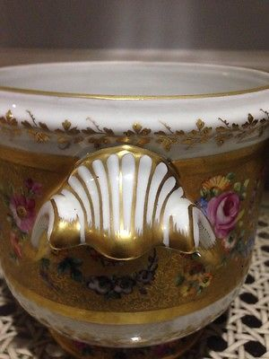 Le-Tallec-Limoges-France-HP-Floral-Gold-Cache-Pot-Ca-1943