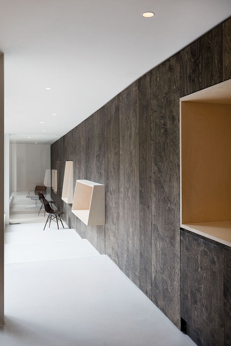 Interior Wood Paneling: Plywood Walls - Dark Wash - Via Shape+space