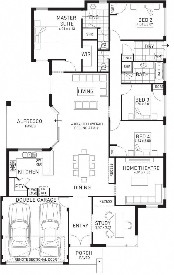 Southern Single Storey Floor Plan Wa Modernhomedecorbedroom Single Storey House Plans House Plans Australia 4 Bedroom House Plans