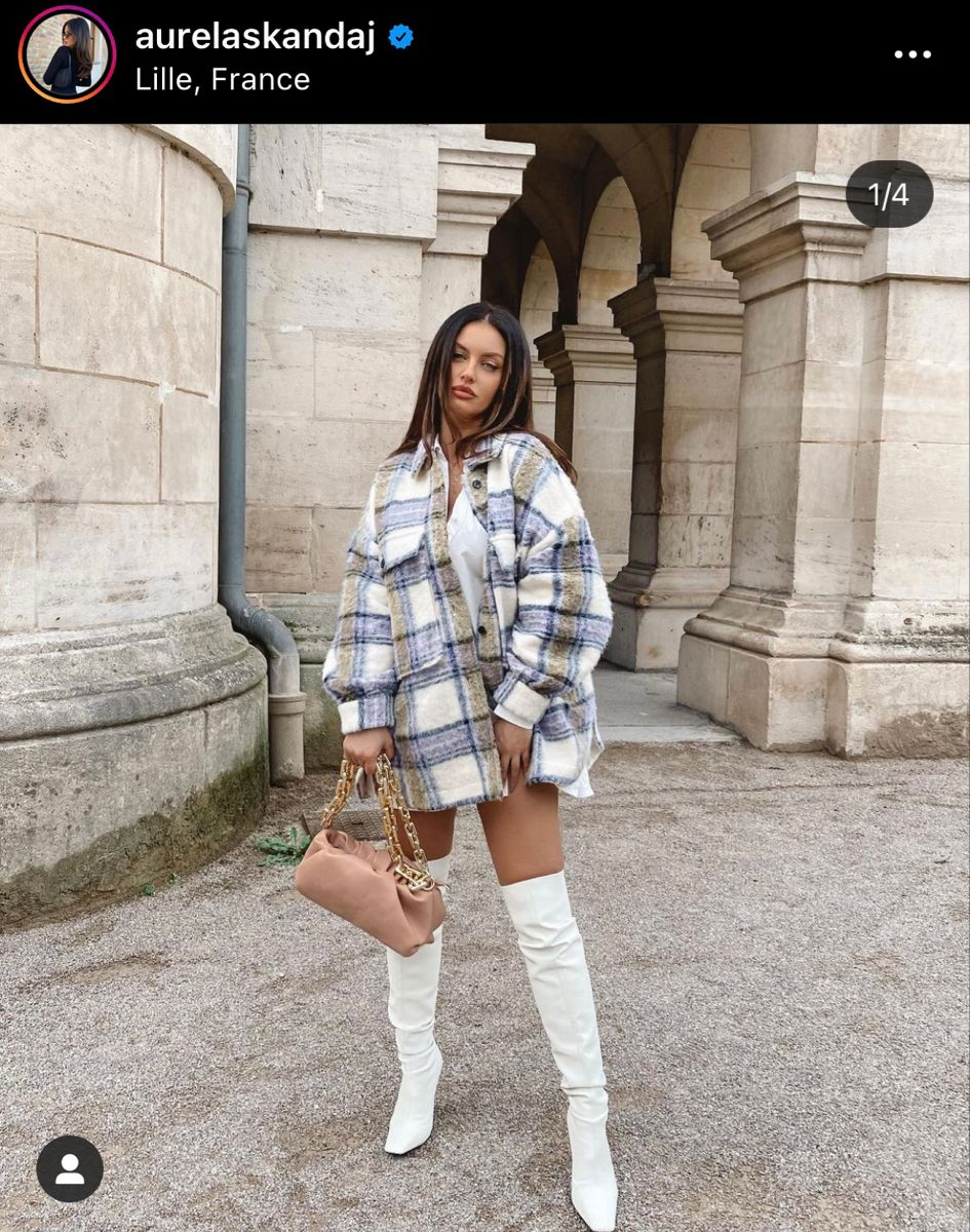 Ig Aurelaskandaj White Boots Outfit White Knee High Boots Knee Length Boots Outfit [ 1200 x 945 Pixel ]