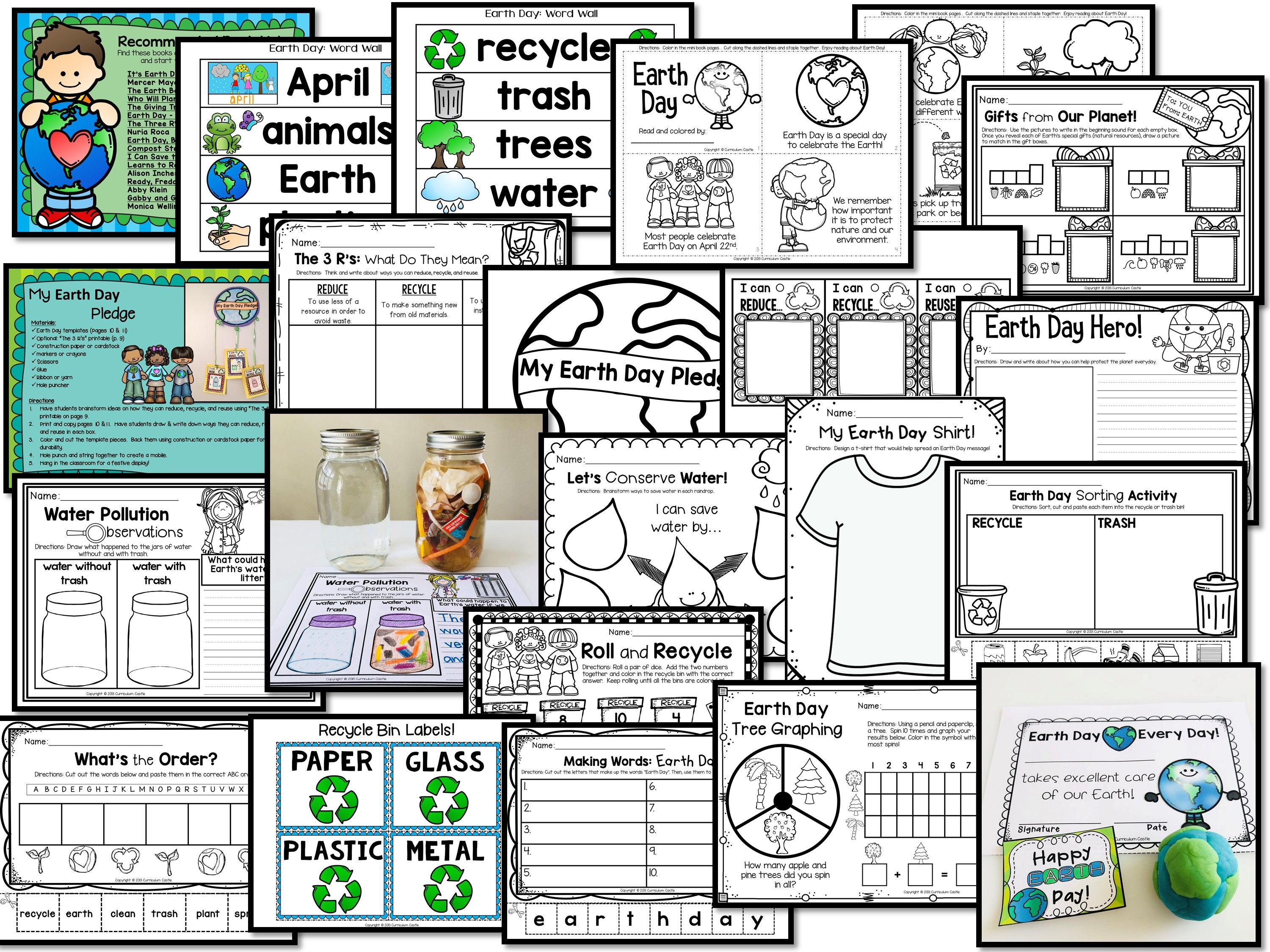 Earth Day Mini Unit Activities And Printables