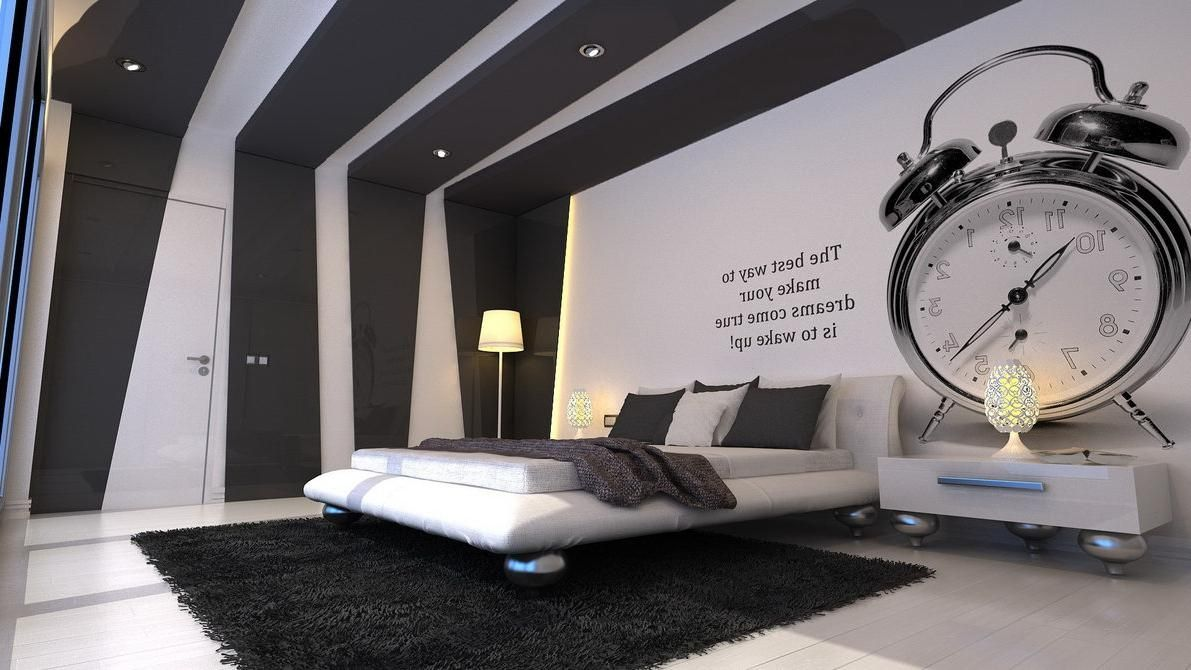 Bedroom Walls Design Ideas Minimalist Bedroom  Black And White Modern Living Room For