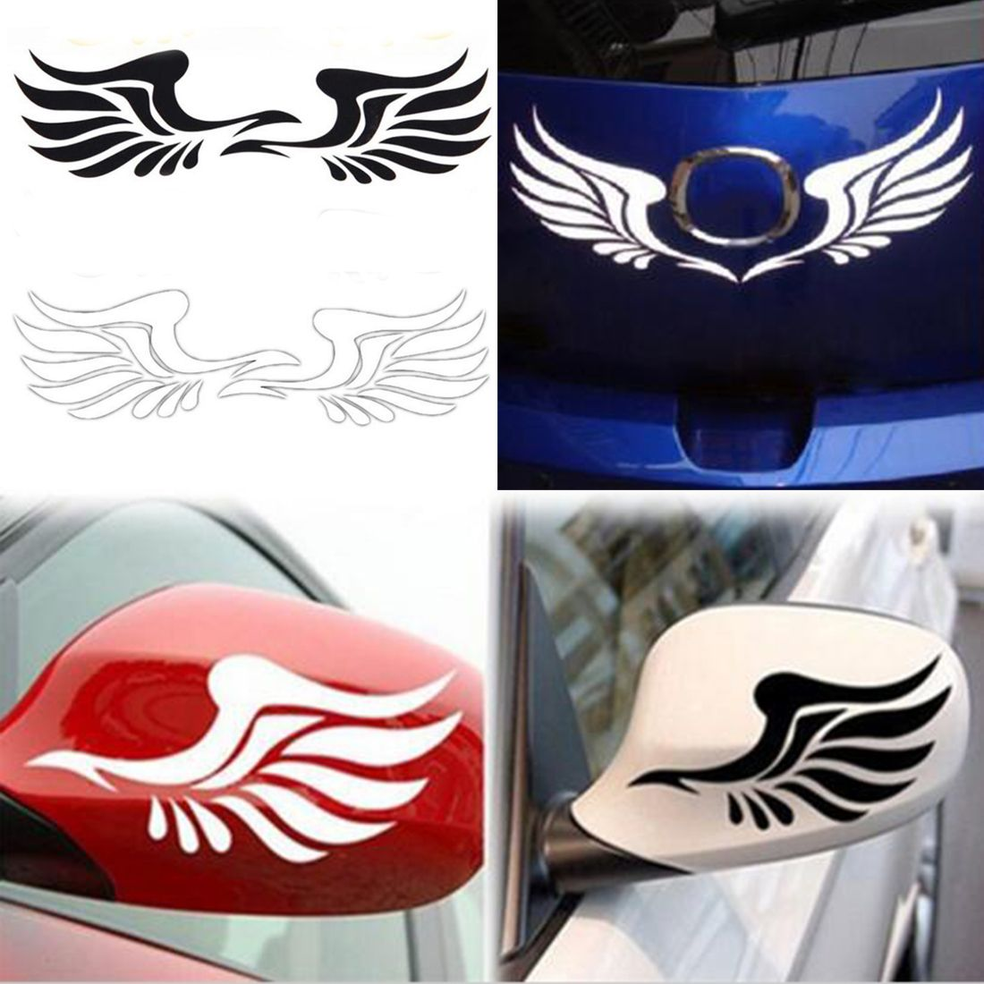 2pcs New Design Personality Fire Wings Side Mirror Car Stickers Decorative Stickers Free Shipping In Stickers Car Mirror Sticker Side Mirror Car Sticker Decor [ 1100 x 1100 Pixel ]
