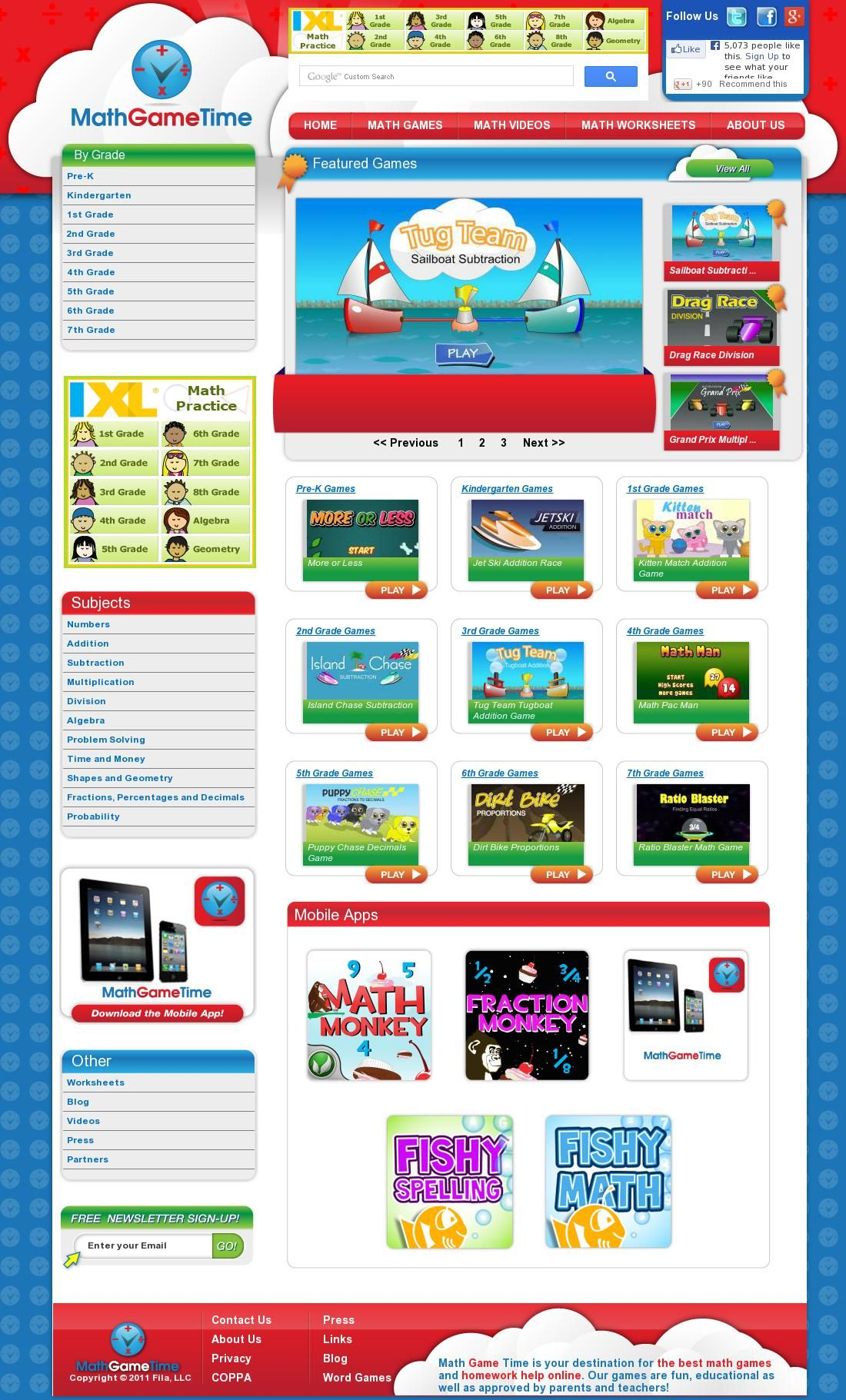 Math Game Time - Free Math Games, Videos and Worksheets | Free Math ...