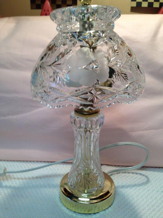 Vintage 24 Heavy Lead Crystal 12 Table Lamp And Lead Etsy Crystal Lamp Lamp Crystal Table Lamps