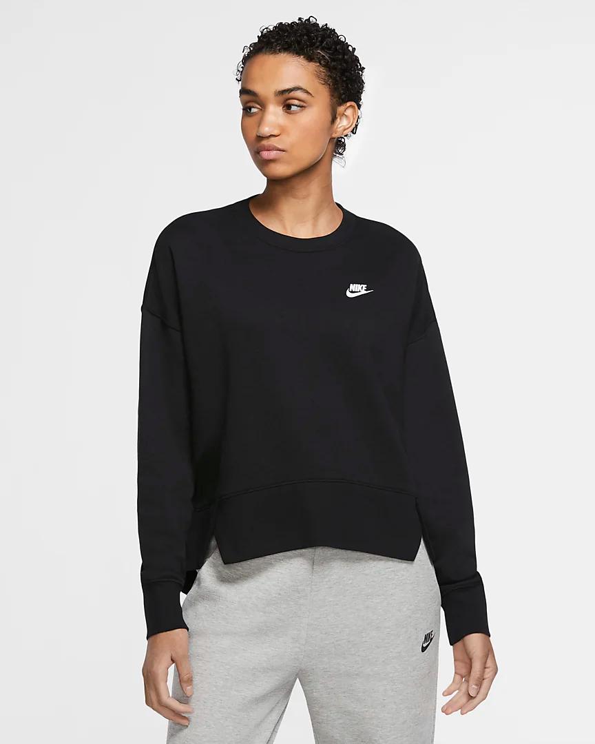 Nike Sportswear Club Women S Fleece Crew Plus Size Nike Com Womens Fleece Nike Sportswear Nike Women [ 1080 x 864 Pixel ]