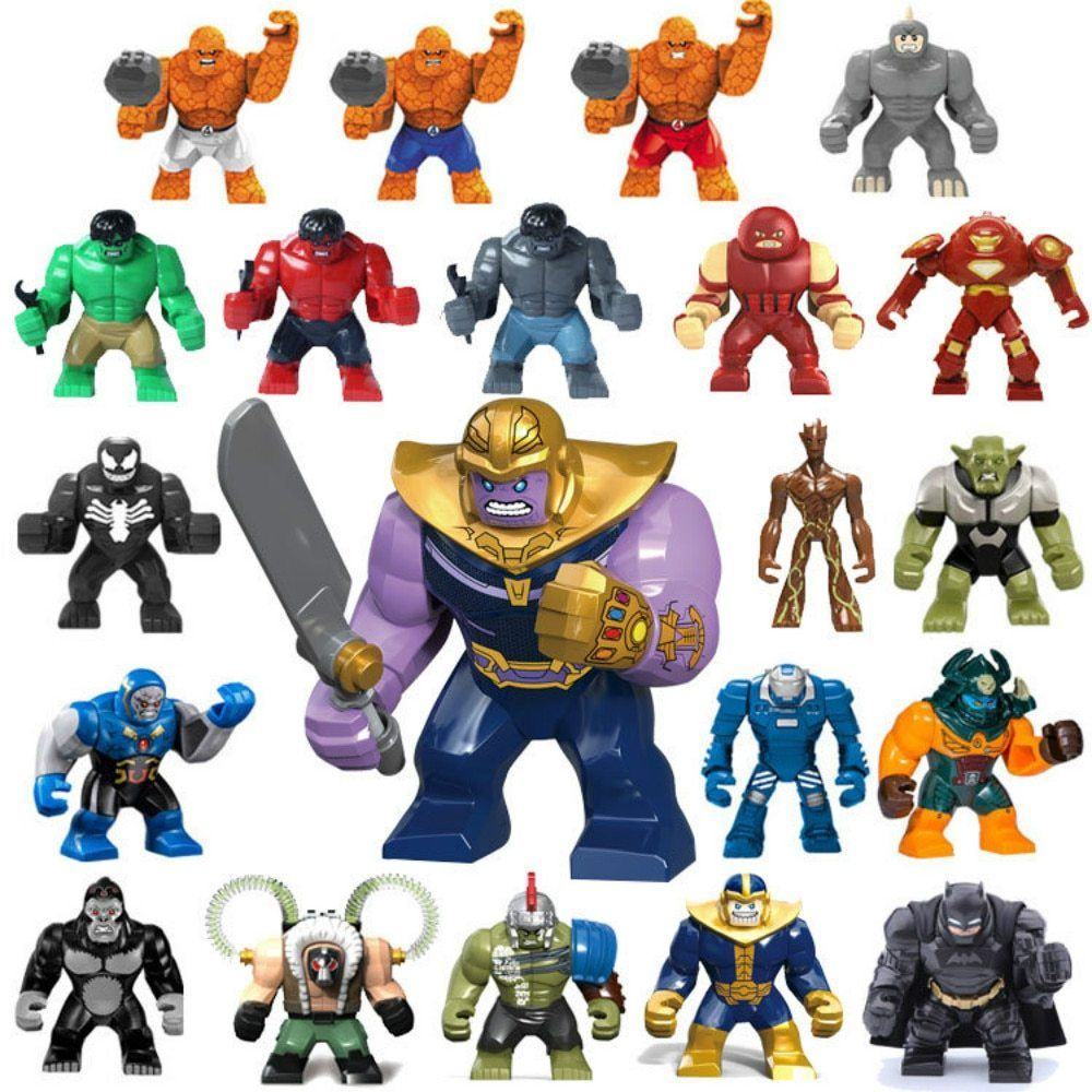 Legoinl Large Batman Thanos Legoingl Marvelng Building Blocks Figure Bricks Avengers Super Hero Hulk Gorilla Lego Super Heroes Hulk Marvel Action Figures Toys