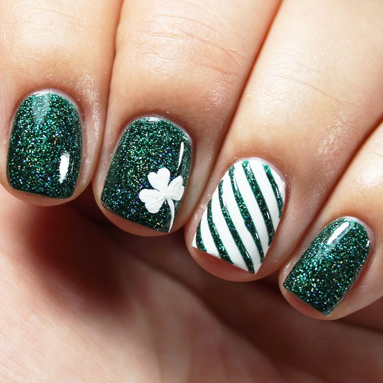 2 Quick & Easy St. Patrick\'s Day Nail Art Tutorials | Saints ...