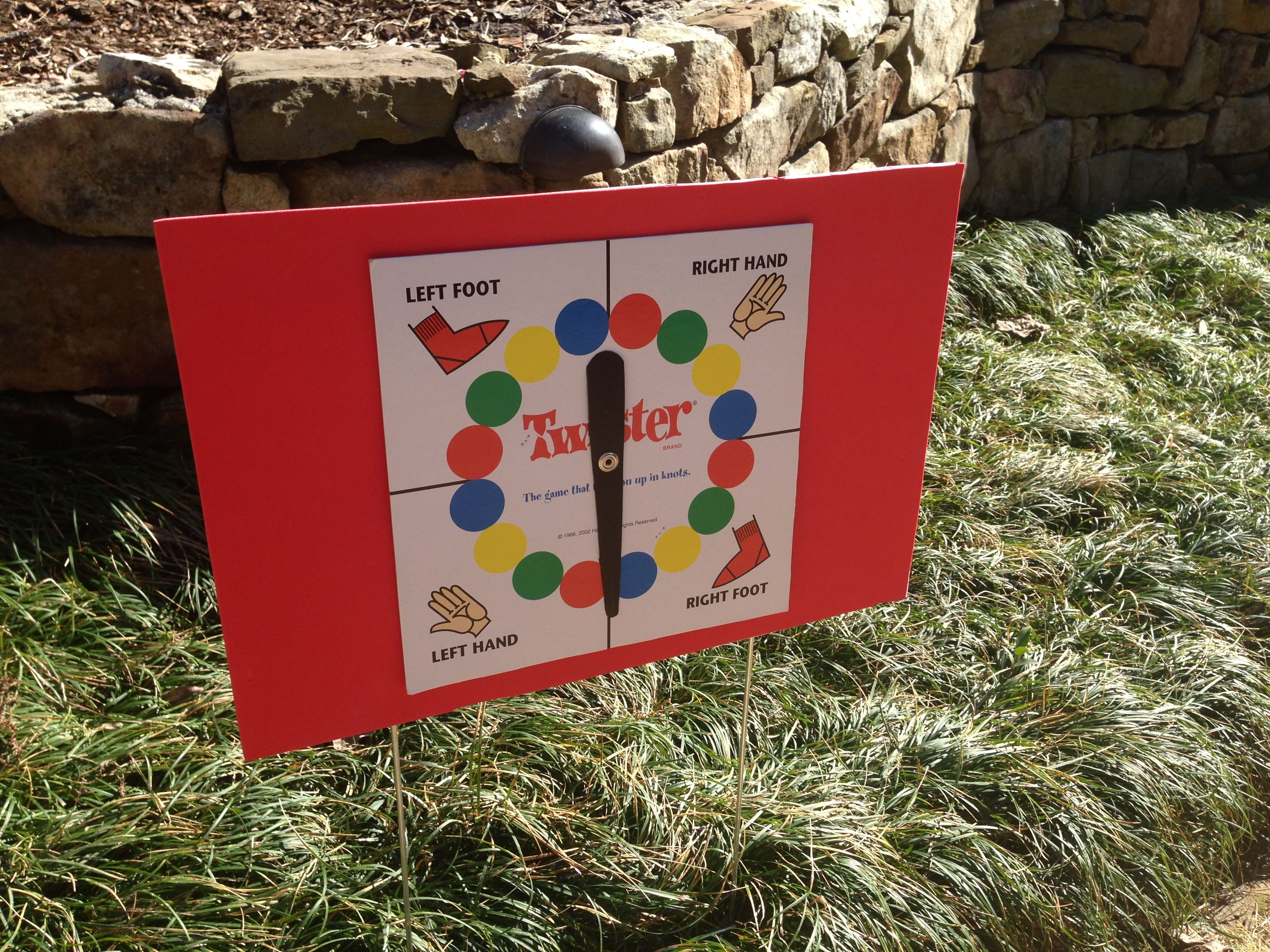 Lawn twister…mounted twister spinner to yard sign