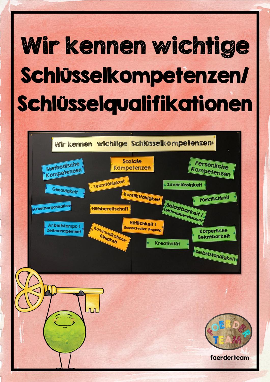 Schlusselkompetenzen Schlusselqualifikationen Wortkarten Unterrichtsmaterial Im Fach Arbeitslehre Wortkarte Soziale Kompetenz Unterrichtsmaterial