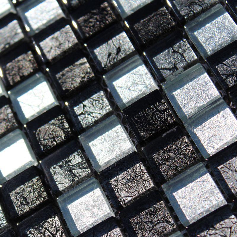 Silver Black Mosaique Salle De Bain Lame Terrasse Mosaique Cuisine