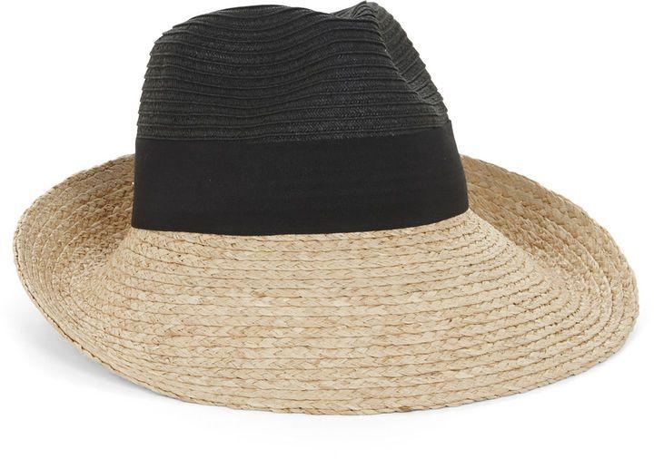 321cf80e BCBGMAXAZRIA Color-Blocked Panama Hat on shopstyle.com | Oh Gush ...