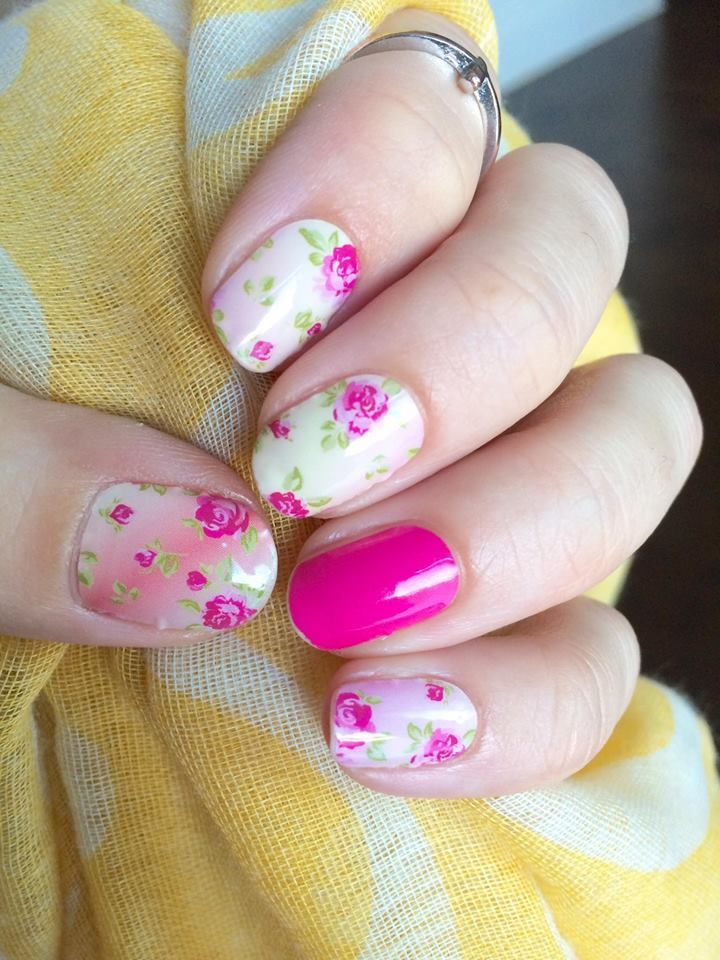 French Countryside and Haute Pink #jamberry #manicure #easy #nails ...