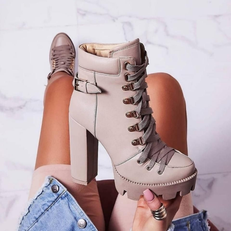 Alya Fashion Platform Ankle Boots
