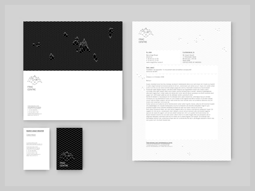 Company Letterhead Design  Papeterie Fractal  Personal Identity