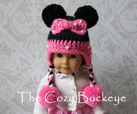 Instant Download Crochet Pattern - Minnie Mouse Hat - American Girl Doll -  Disney Character Hat 1c03dd4a690