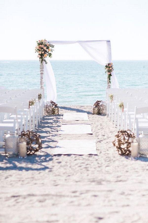 idées simples et élégantes pour les cérémonies de mariage sur la plage – #simple #legious #f …  – feste