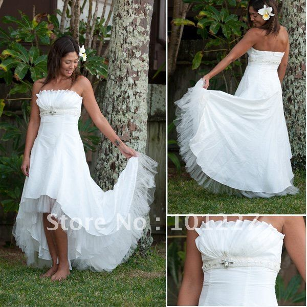Wedding dress short and long for party
