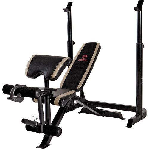 Marcy Diamond 2 Piece Olympic Strength Bench 225 Weight Benches Olympic Weights Squat Rack