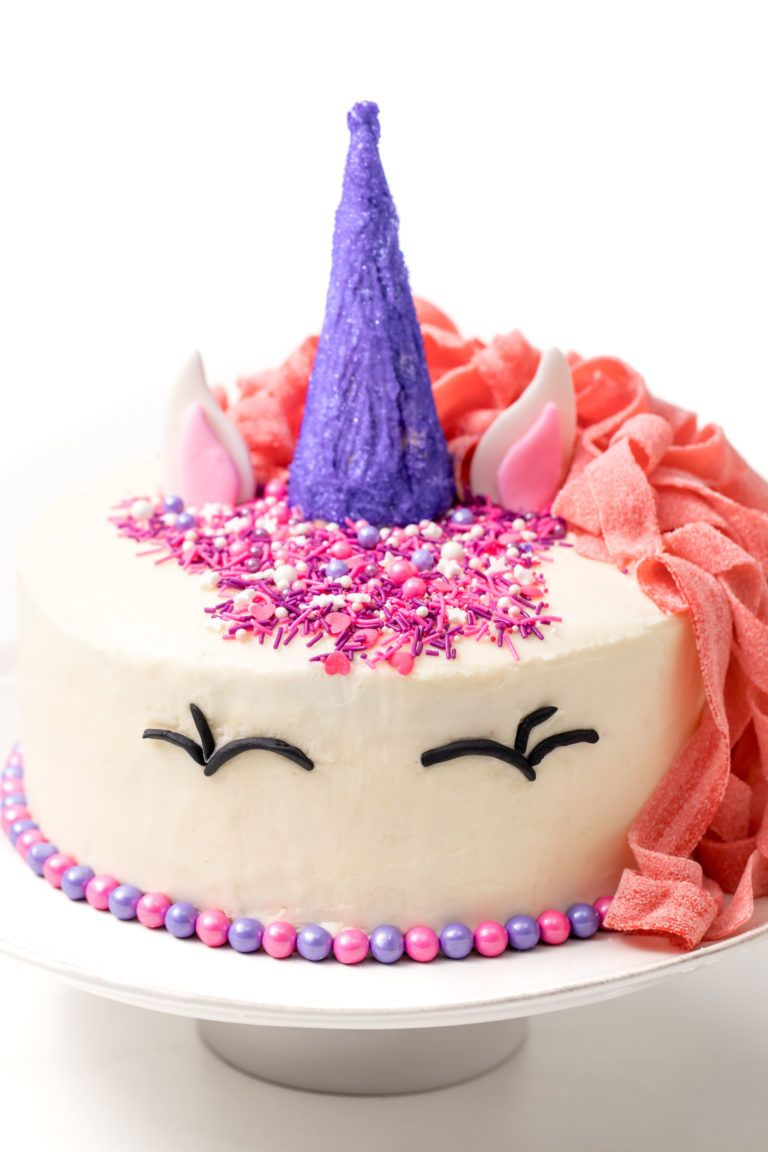 How To Make An Easy Unicorn Cake Recipe Easy Unicorn Cake Cake Cake Recipes