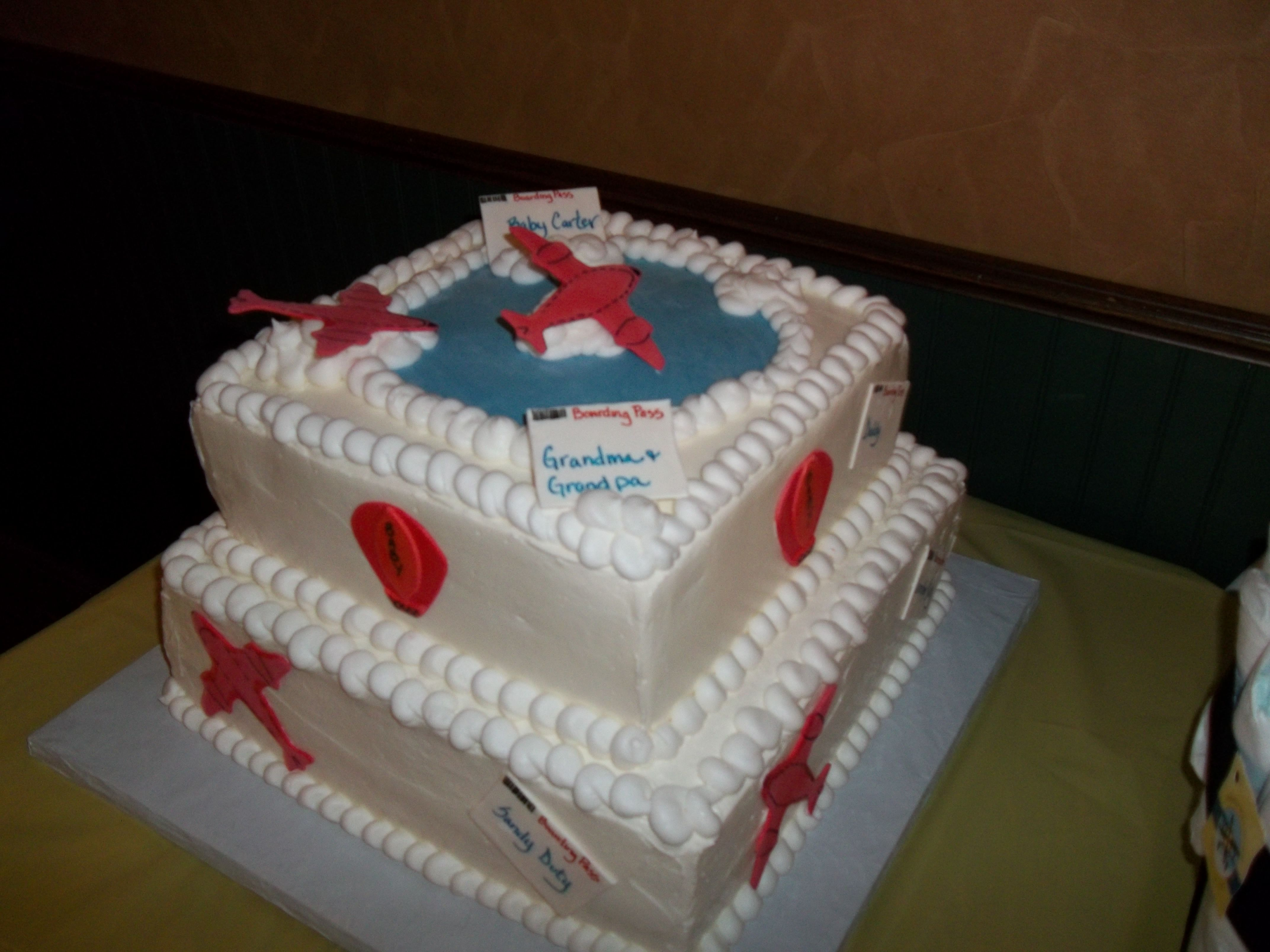 Airplane Baby Shower Cake Party Ideas Pinterest