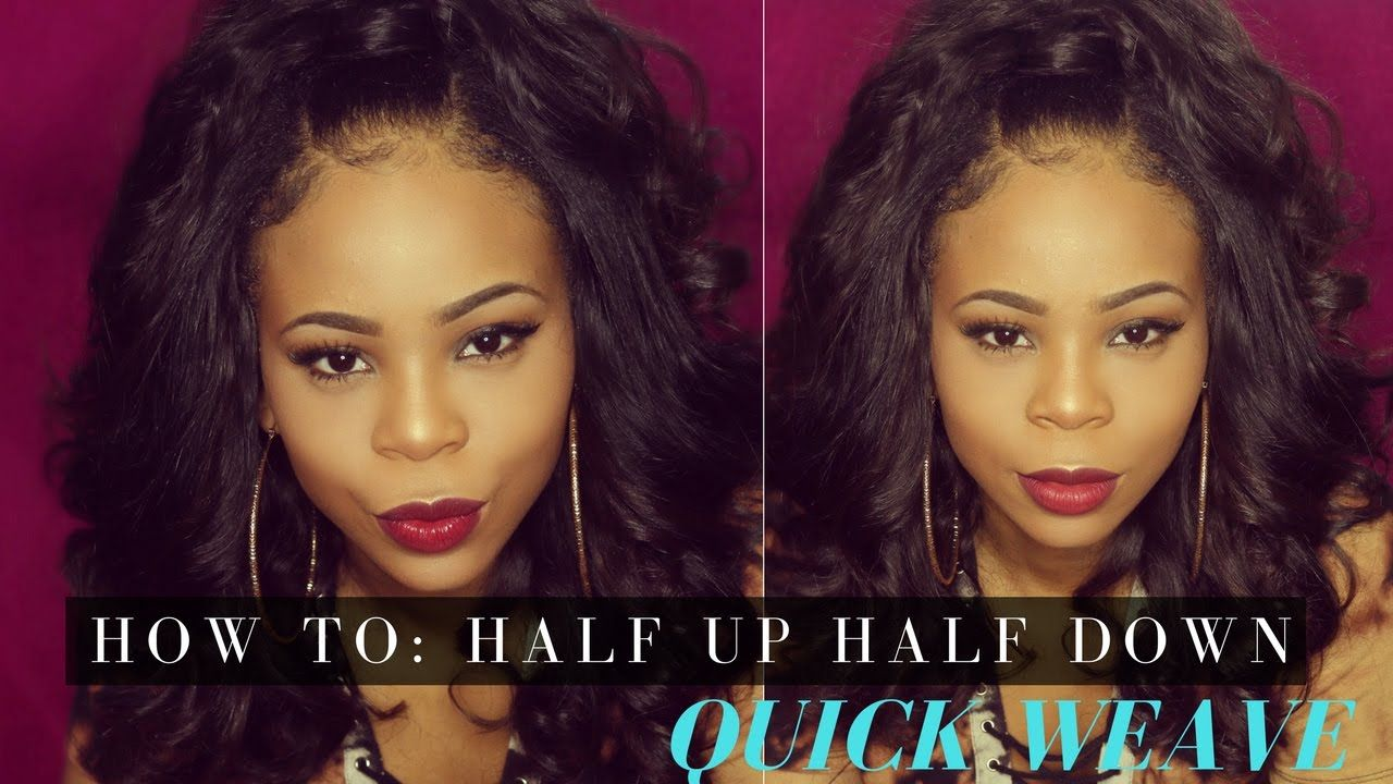 HOW TO: Half Up Half Down Ponytail Quick Weave