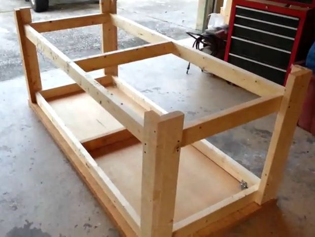 How To Build A Sturdy Workbench Inexpensively Ideias Banquinhos