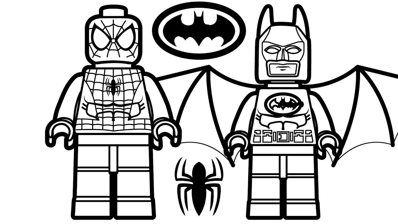 lego batman spider man coloring pages  batman boyama