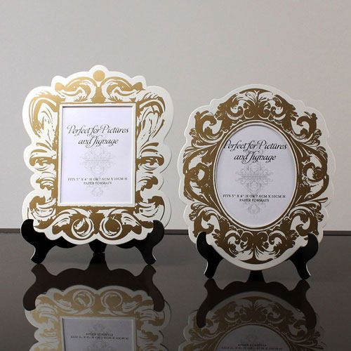 a847c4a71b6d Baroque Paper Frames With Table Easels (Black or Gold) (Wedding Star 9141)