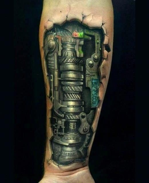 Ideas And Inspiration For Guys: Biomechanical Tattoos For Men