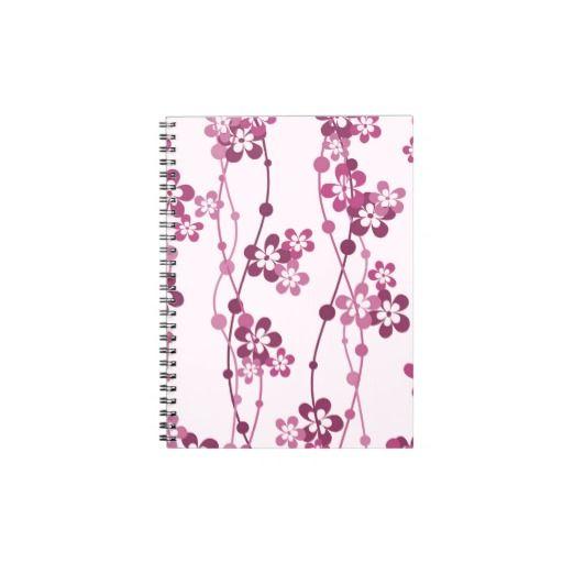 Flower Vines in Pink Notebook