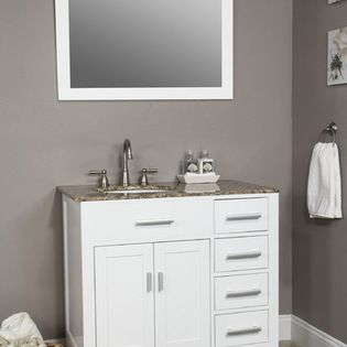 HUDSON COLLECTION #BATHROOM #VANITY - #White #cabinet.