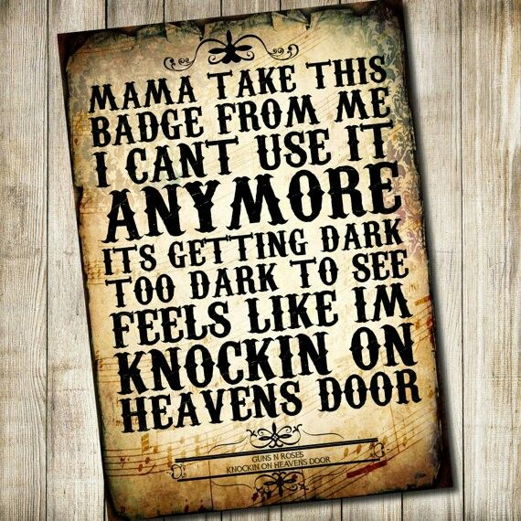Knock, knock, knocking on Heavens Door ❤ G n R
