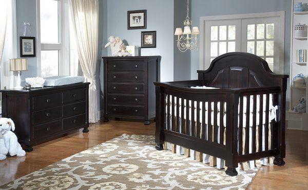 Everything Nice Crib Sugar In Espresso Black Nursery Furniture Dark Wood