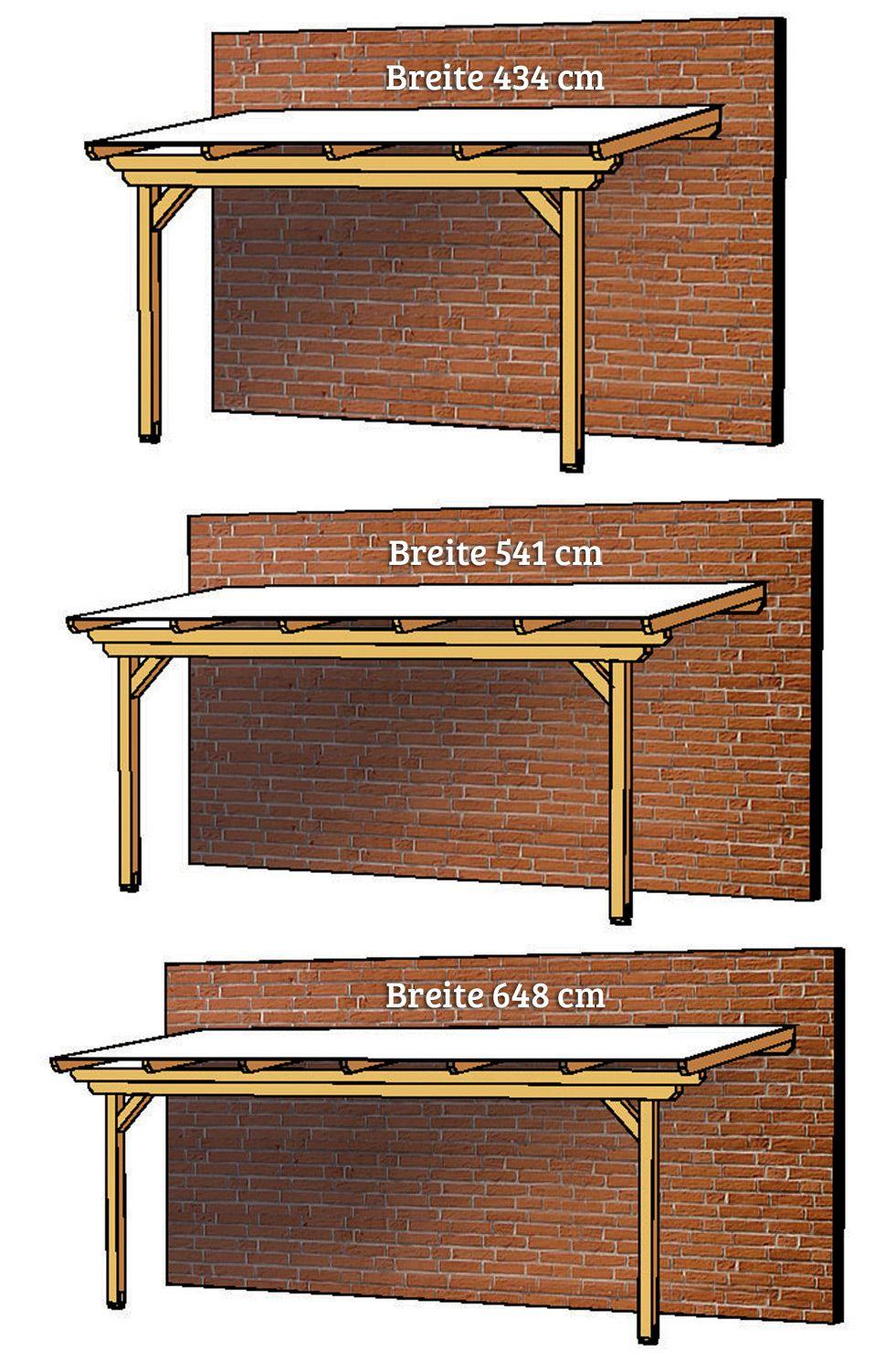 Terrassenüberdachung Holz-Bausatz SKANHOLZ «Ancona» Terrassendach | Terrassenüberdachung