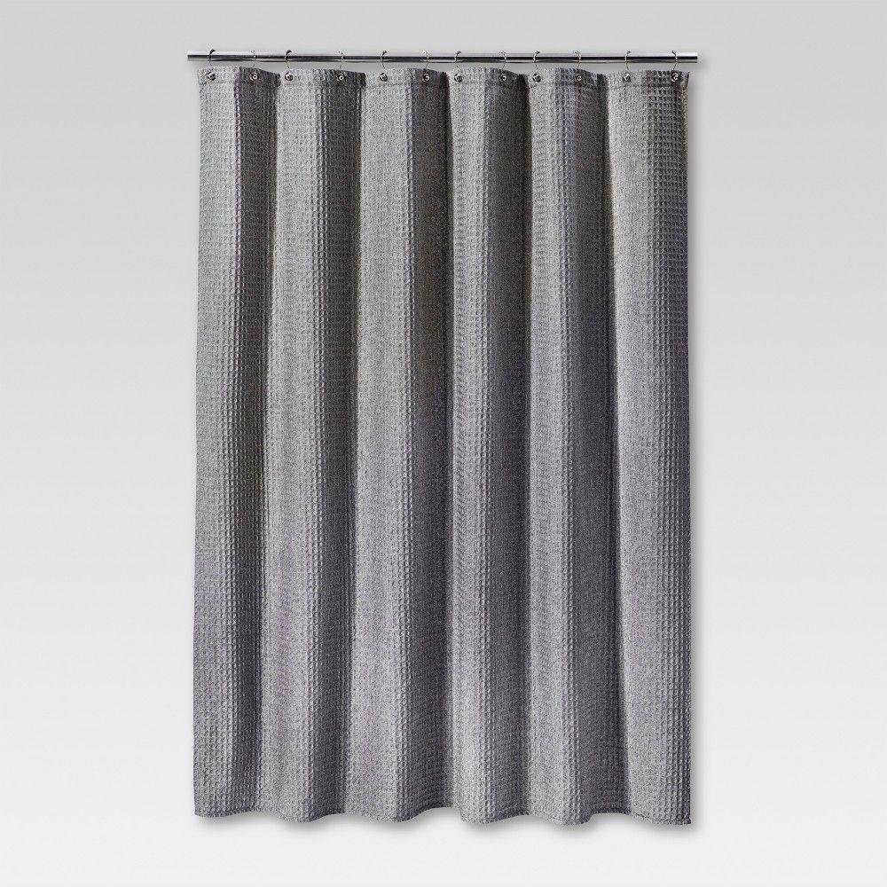 72 X72 Waffle Weave Shower Curtain Gray Threshold Waffle Weave Shower Curtain Gray Shower Curtains Purple Shower Curtain