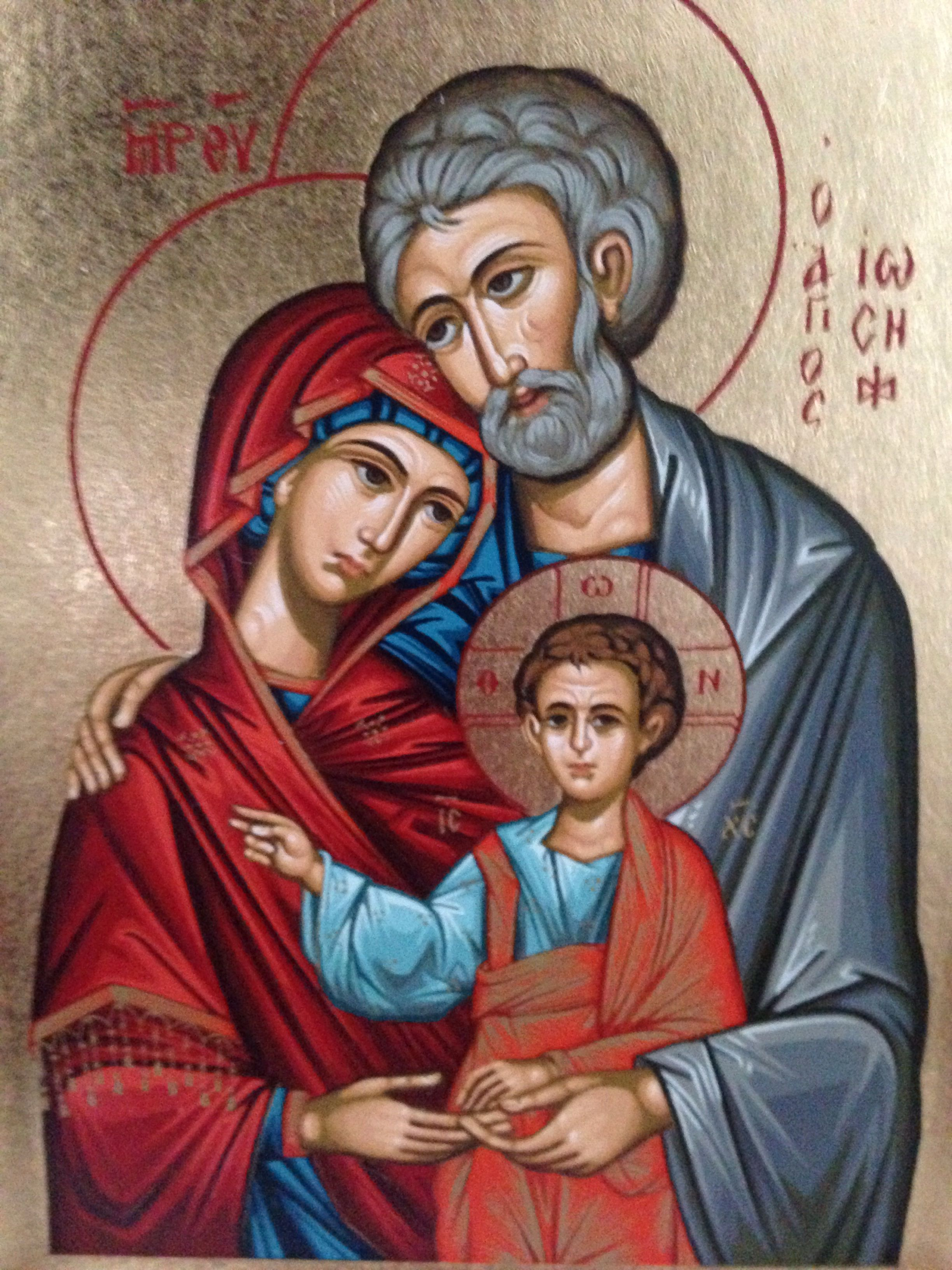 Beautiful icon of the Holy Family Orthodoxy ️ Paint
