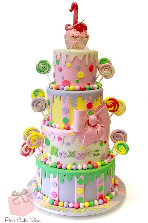 Fantastic Kids Cakes You Can Afford Fake Cakes With Images Candyland Personalised Birthday Cards Petedlily Jamesorg