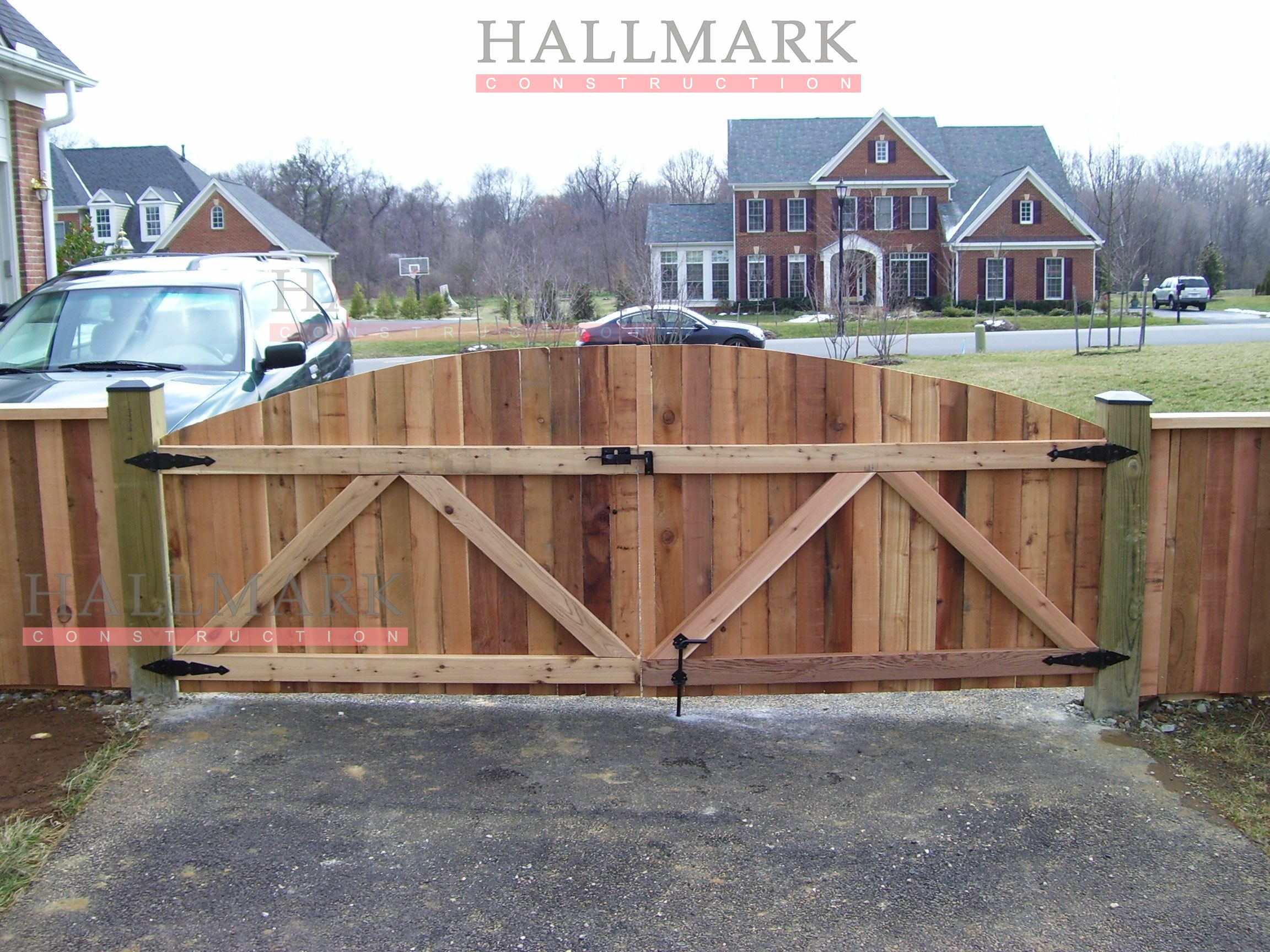 This Is A Very Nice Well Built Custom Double Drive Gate Impressive Wood Fence Installation Wooden Gates