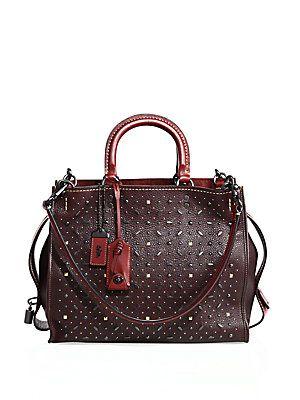 4b8374b37d COACH 1941 Medium Leather Rivets Rogue Bag